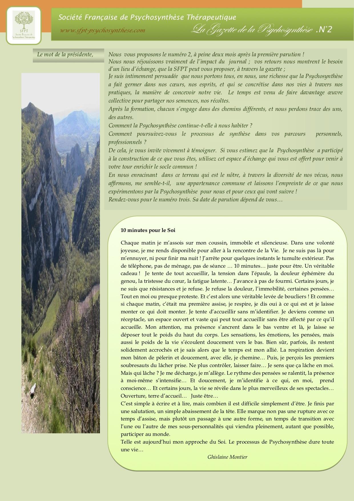 La Gazette N°2-AVRIL 2012