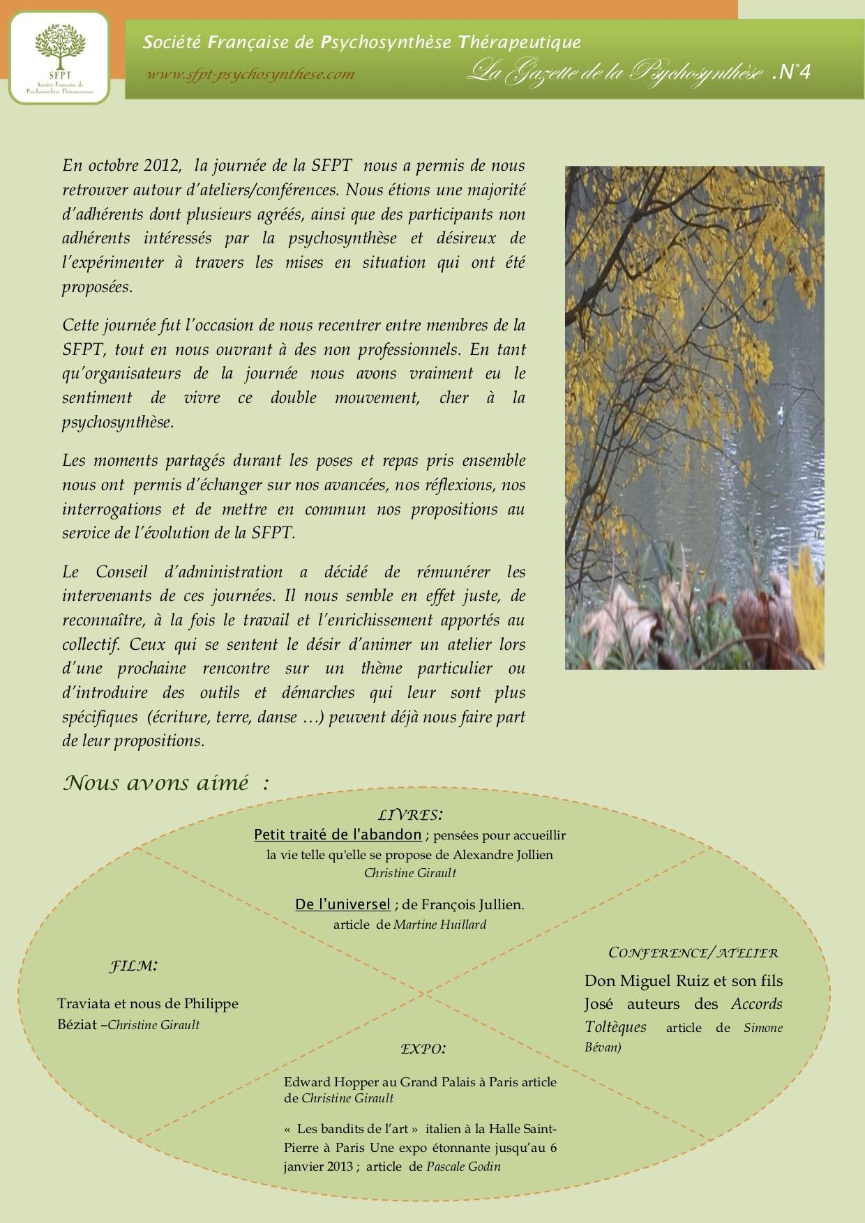La Gazette N°4 décembre 2012