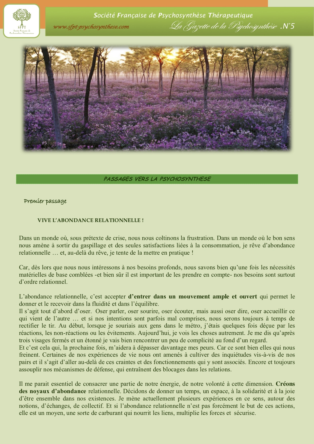 La Gazette N°5-2013